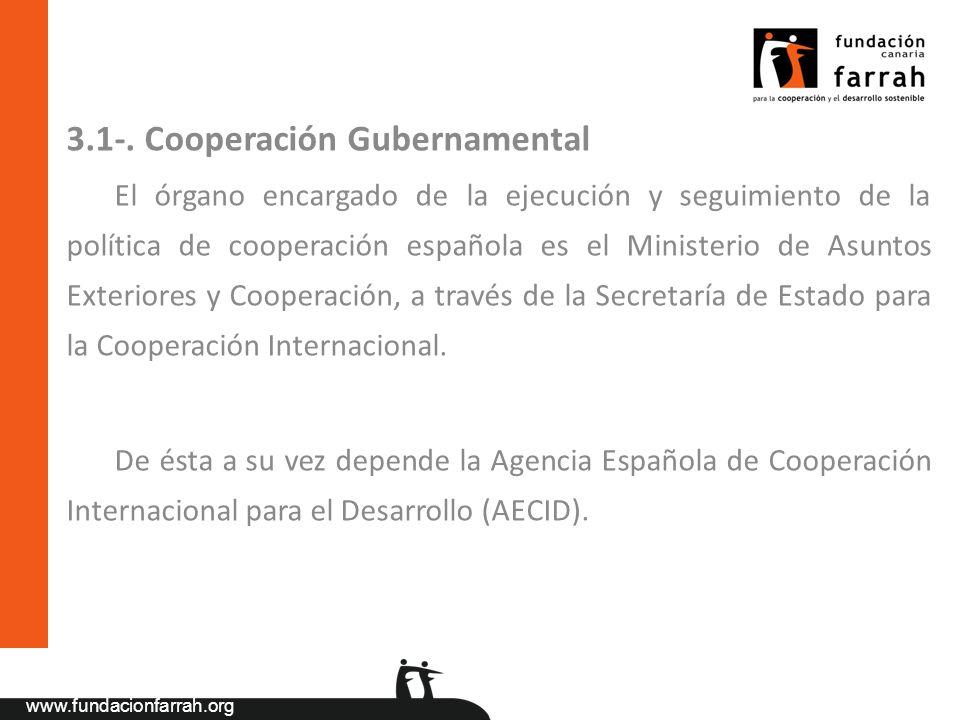 3.1-. Cooperación Gubernamental