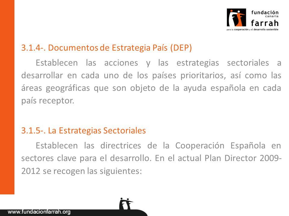 3.1.4-. Documentos de Estrategia País (DEP)
