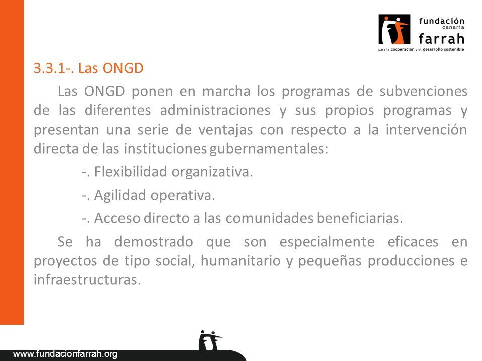 3.3.1-. Las ONGD