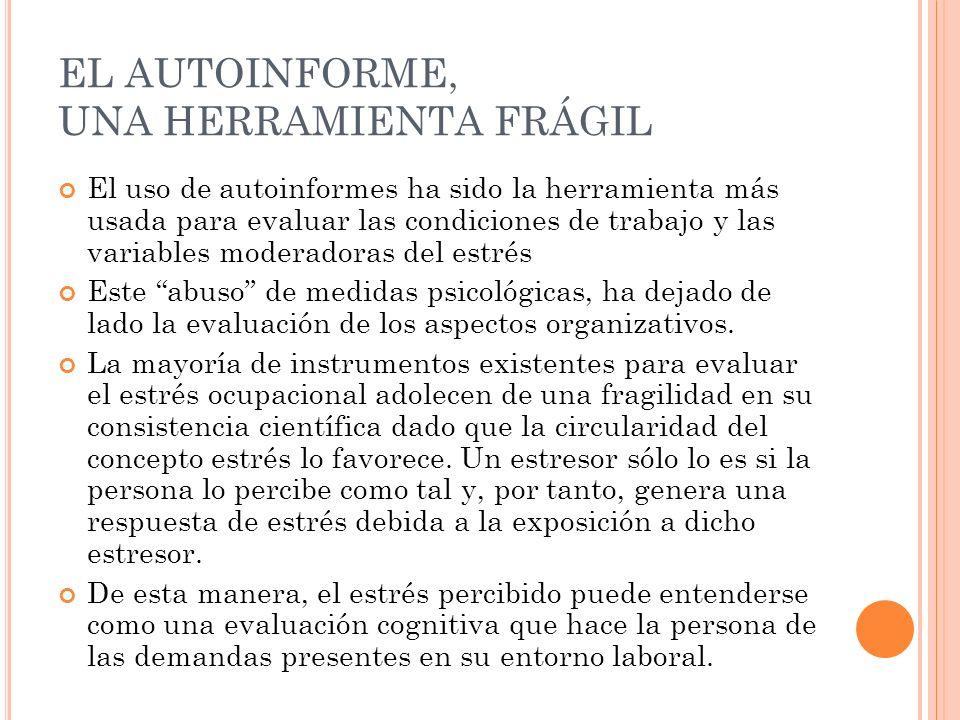 EL AUTOINFORME, UNA HERRAMIENTA FRÁGIL