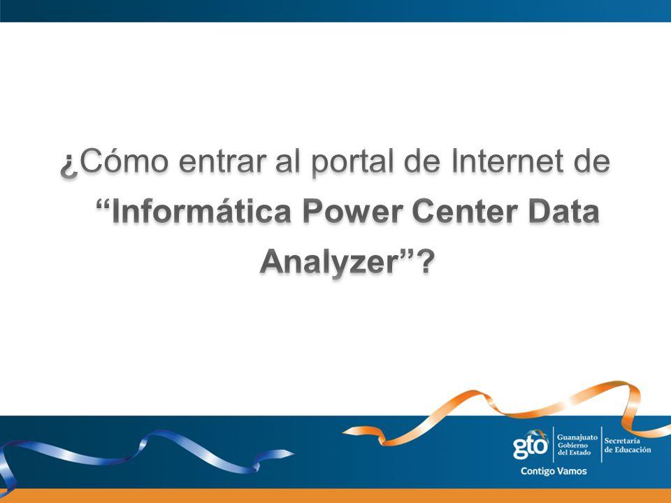 ¿Cómo entrar al portal de Internet de Informática Power Center Data Analyzer
