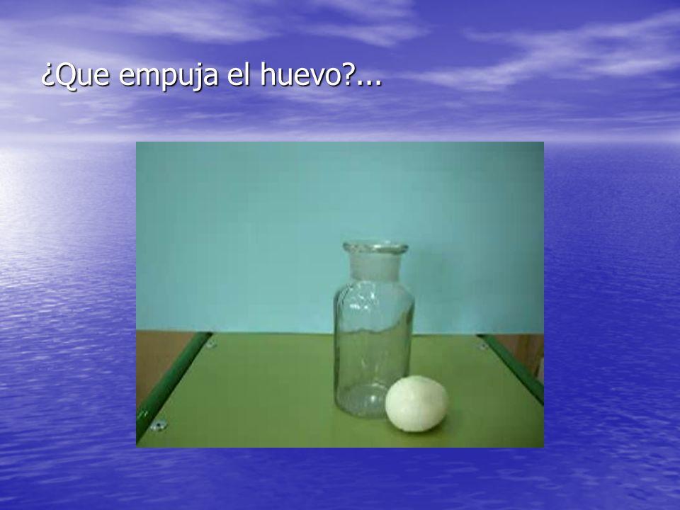 ¿Que empuja el huevo ...