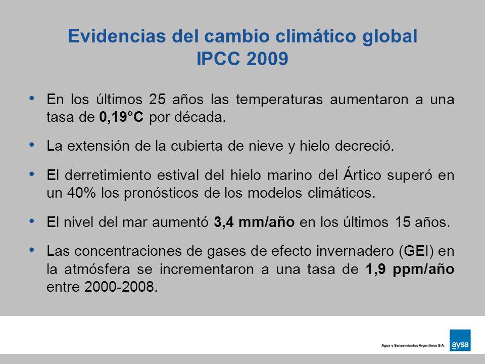 Evidencias del cambio climático global IPCC 2009