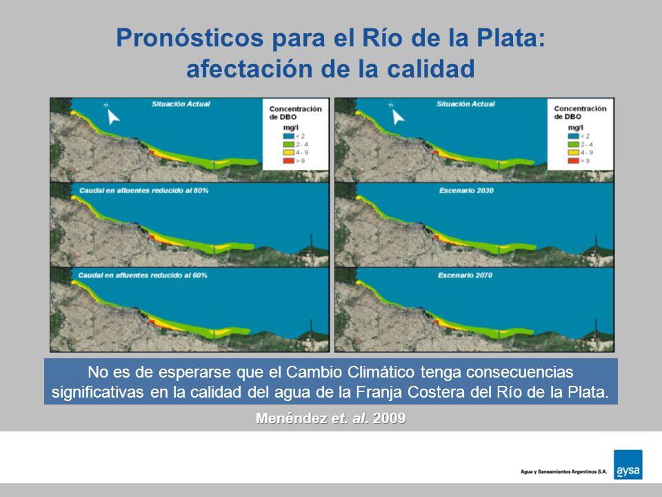 Pronósticos para el Río de la Plata: afectación de la calidad