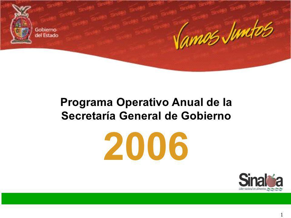 Programa Operativo Anual de la Secretaría General de Gobierno