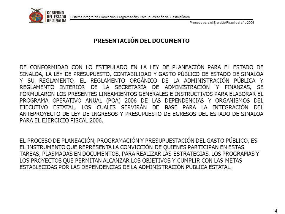 PRESENTACIÓN DEL DOCUMENTO