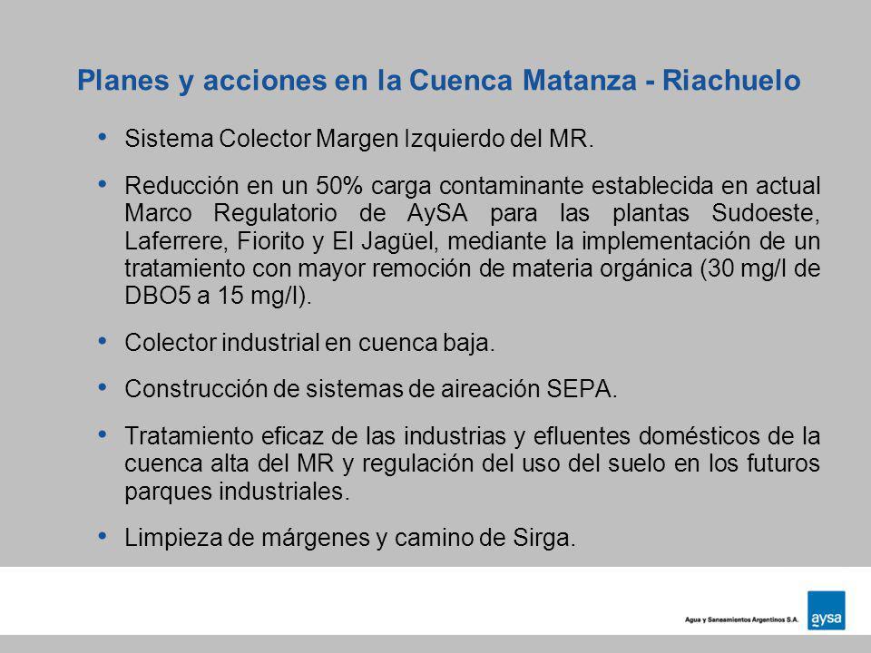 Planes y acciones en la Cuenca Matanza - Riachuelo