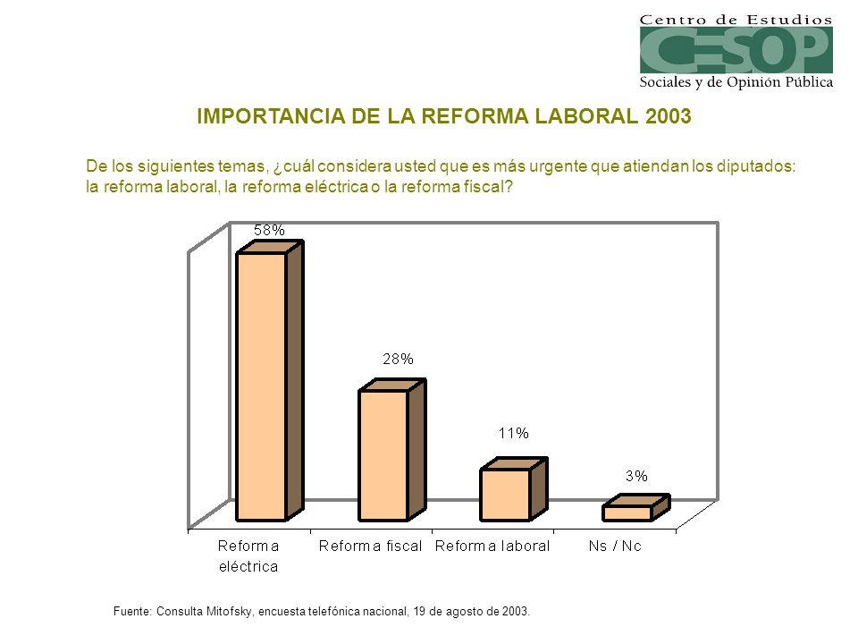 IMPORTANCIA DE LA REFORMA LABORAL 2003