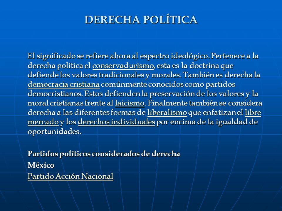 DERECHA POLÍTICA