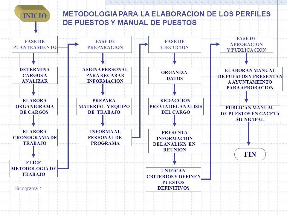 METODOLOGIA PARA LA ELABORACION DE LOS PERFILES