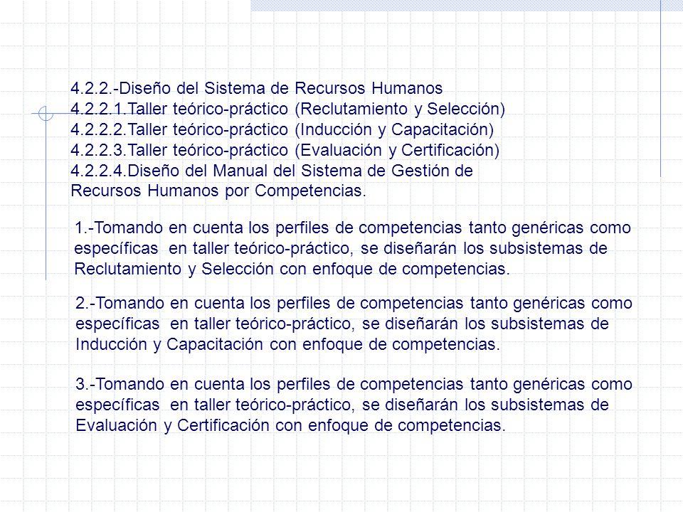 4.2.2.-Diseño del Sistema de Recursos Humanos