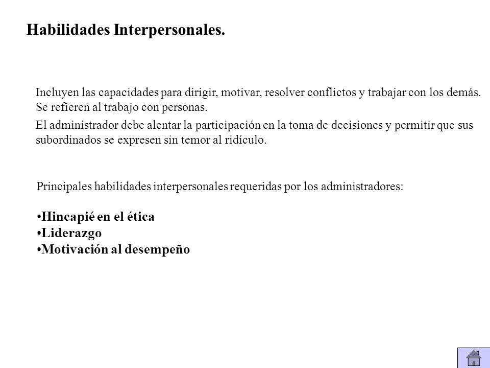 Habilidades Interpersonales.