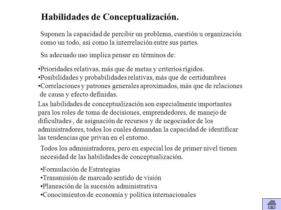 Habilidades de Conceptualización.