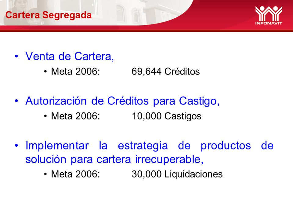 Autorización de Créditos para Castigo,