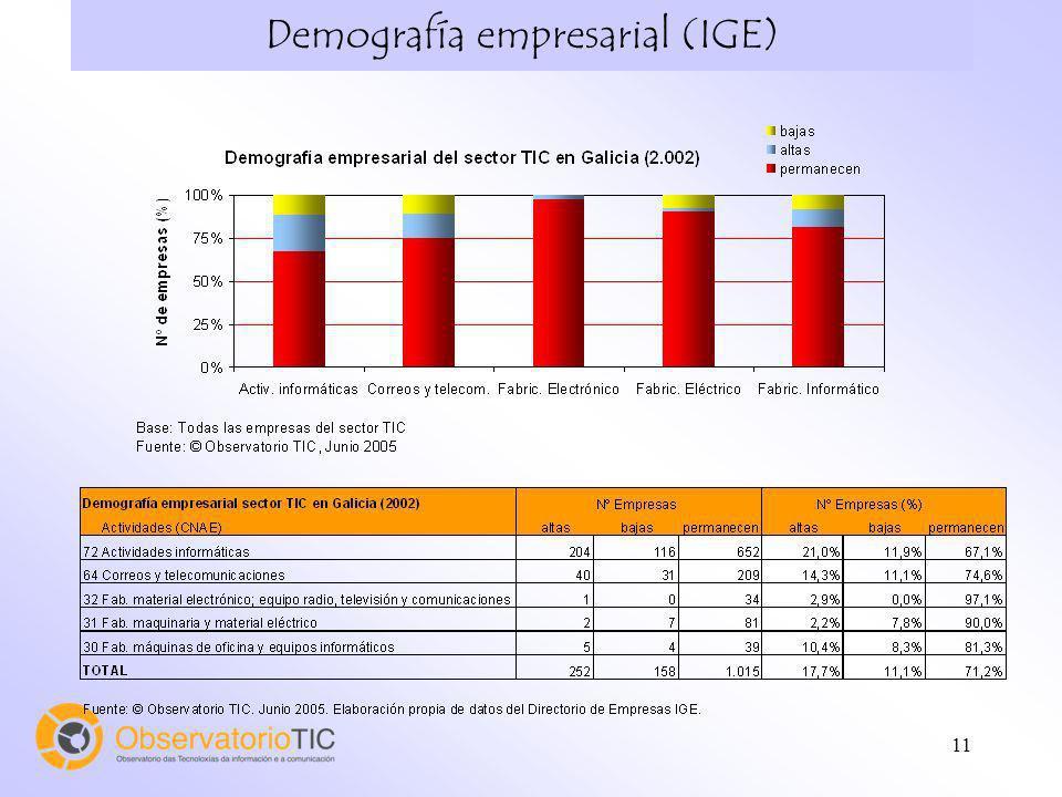 Demografía empresarial (IGE)