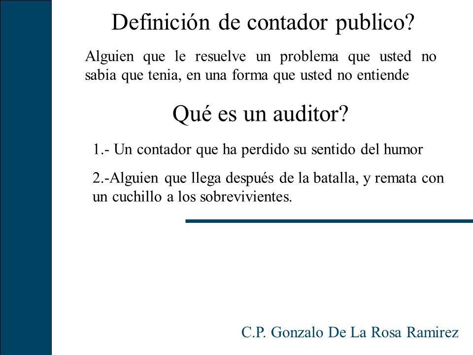 Definición de contador publico