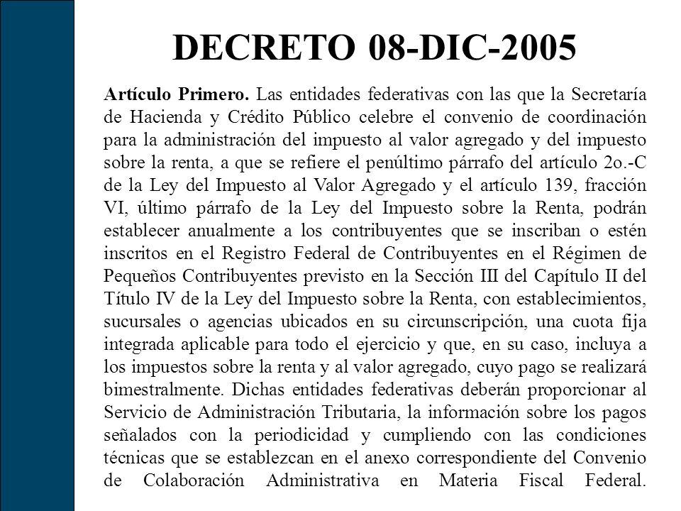 DECRETO 08-DIC-2005