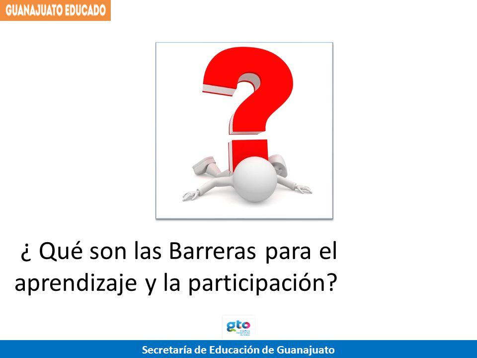 ¿ Qué son las Barreras para el aprendizaje y la participación