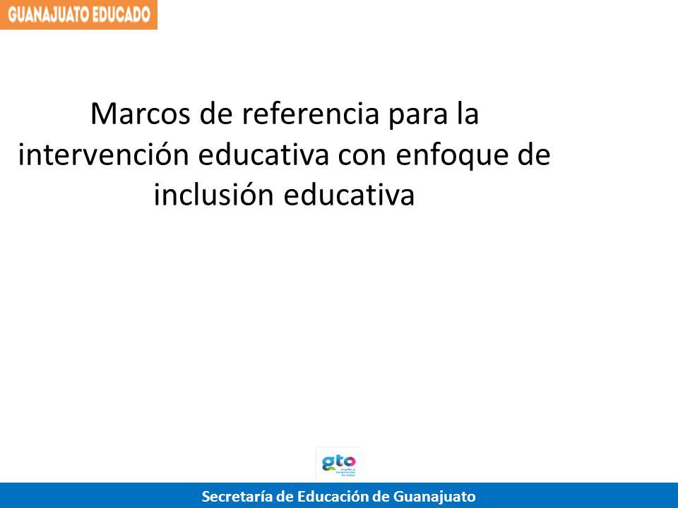 Marcos de referencia para la intervención educativa con enfoque de inclusión educativa