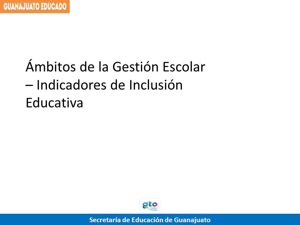 Ámbitos de la Gestión Escolar – Indicadores de Inclusión Educativa