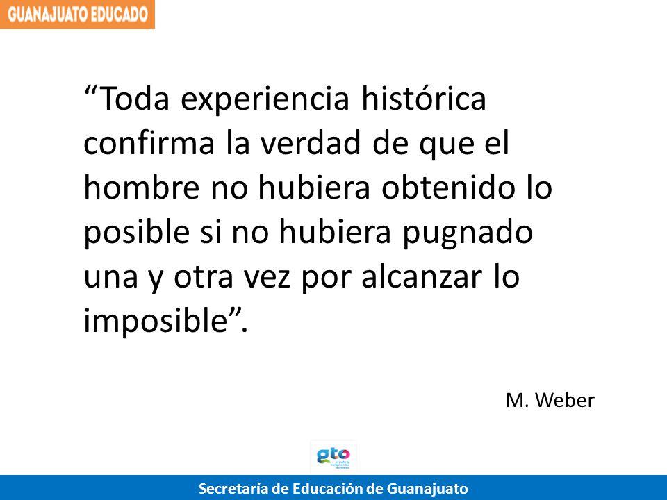 Toda experiencia histórica confirma la verdad de que el hombre no hubiera obtenido lo posible si no hubiera pugnado una y otra vez por alcanzar lo imposible .