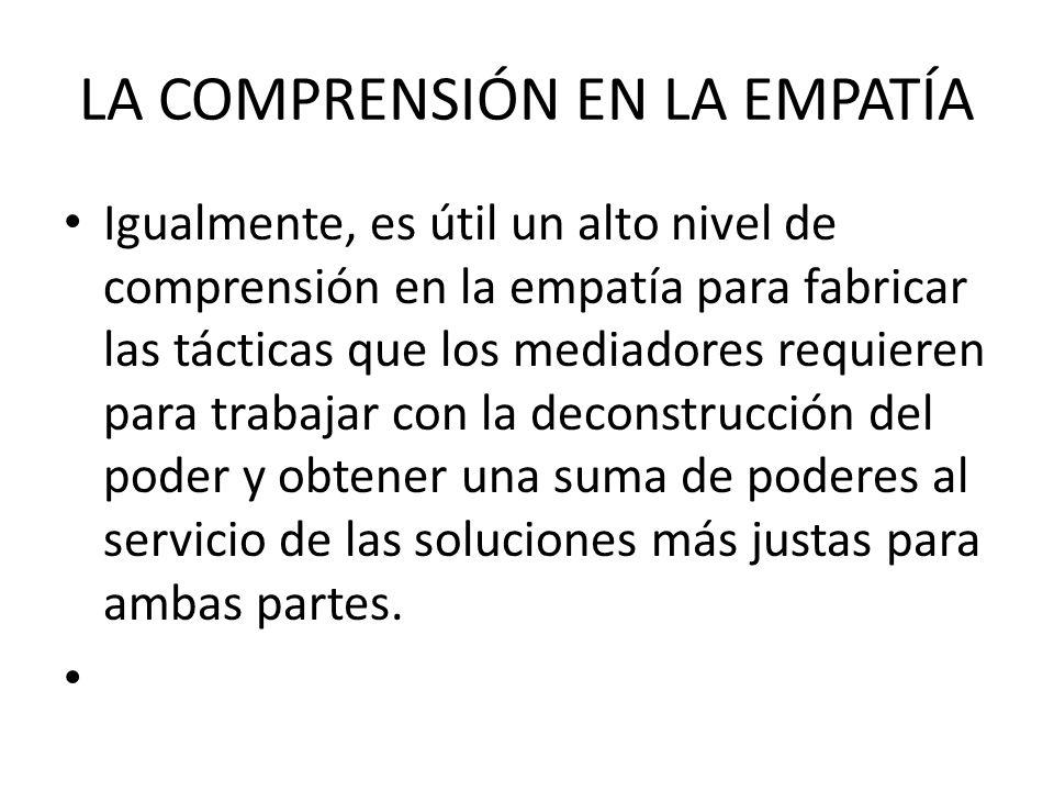 LA COMPRENSIÓN EN LA EMPATÍA