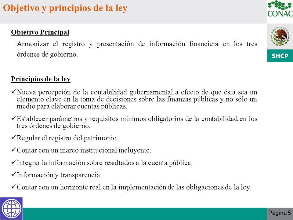 Objetivo y principios de la ley