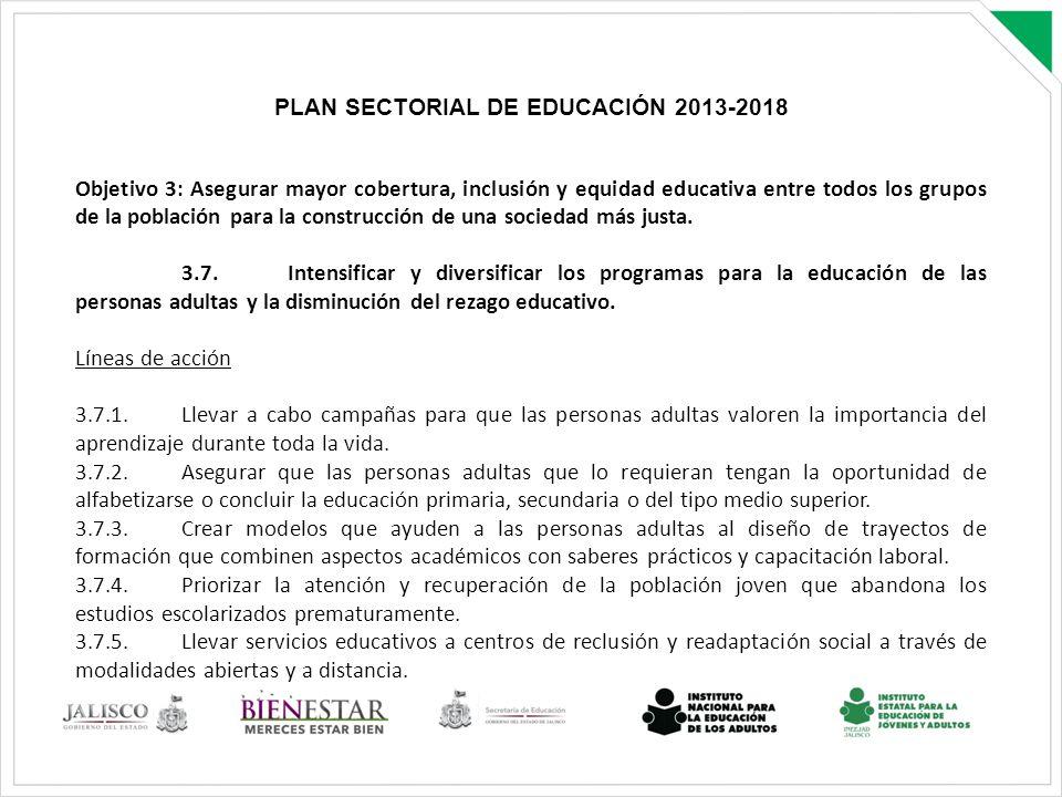 PLAN SECTORIAL DE EDUCACIÓN 2013-2018