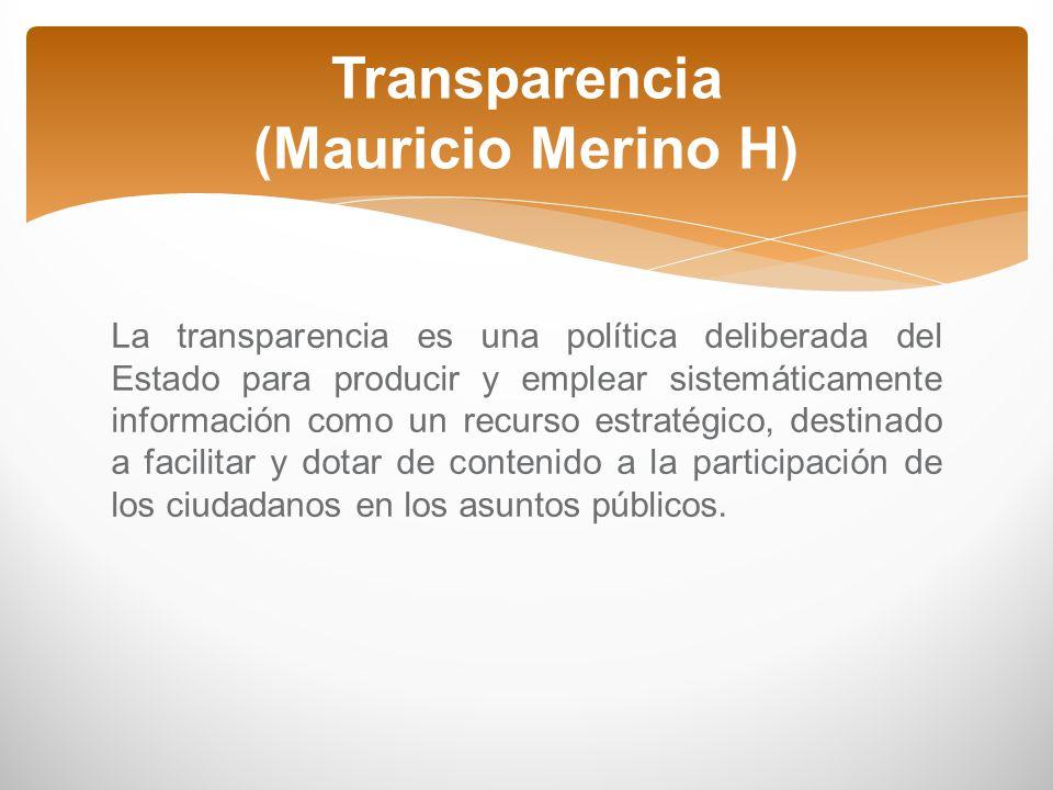 Transparencia (Mauricio Merino H)