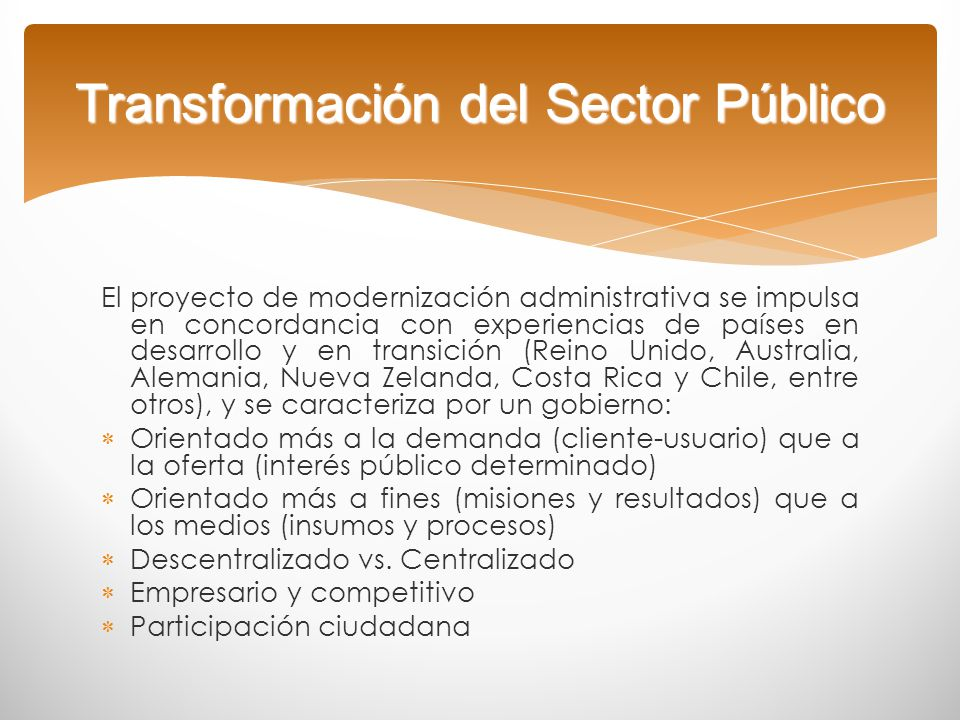 Transformación del Sector Público
