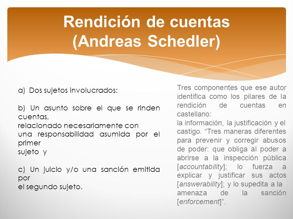 Rendición de cuentas (Andreas Schedler)