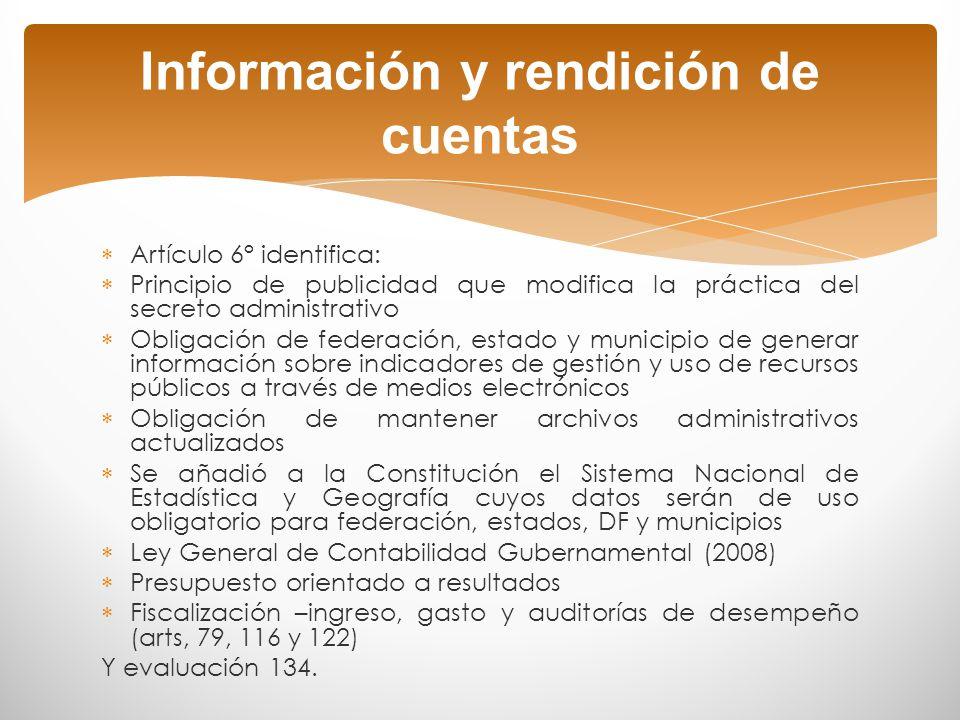 Información y rendición de cuentas