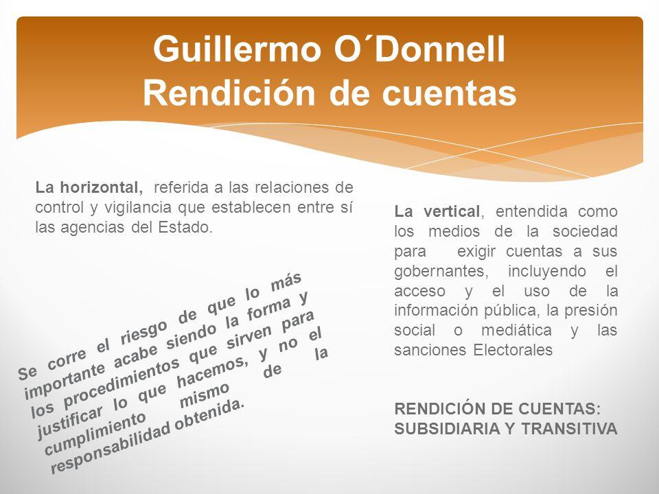 Guillermo O´Donnell Rendición de cuentas