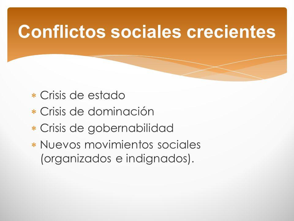 Conflictos sociales crecientes