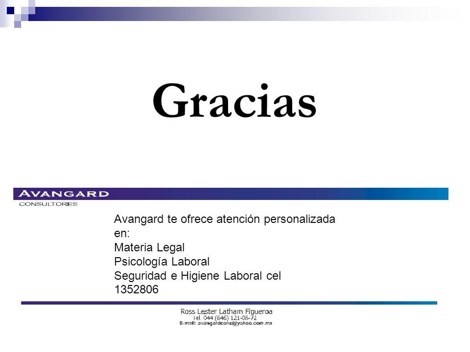 Gracias Avangard te ofrece atención personalizada en: Materia Legal