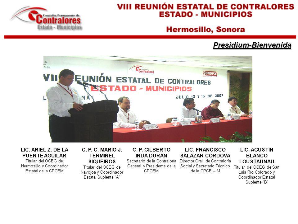 Presidium-Bienvenida