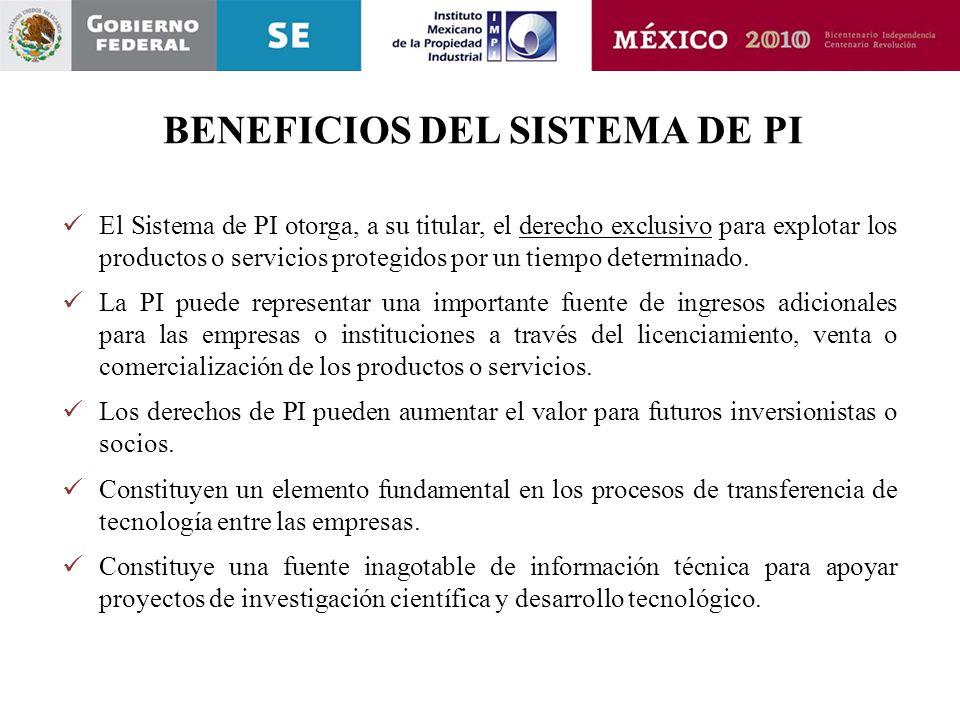 BENEFICIOS DEL SISTEMA DE PI