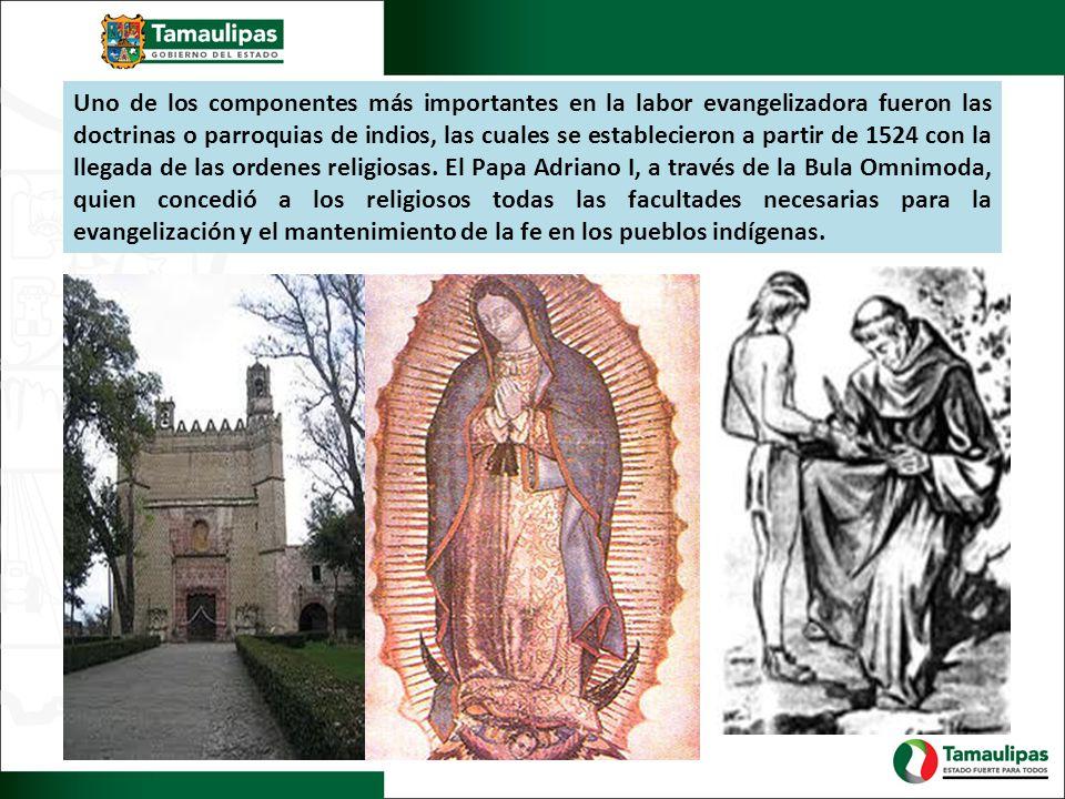 Uno de los componentes más importantes en la labor evangelizadora fueron las doctrinas o parroquias de indios, las cuales se establecieron a partir de 1524 con la llegada de las ordenes religiosas.