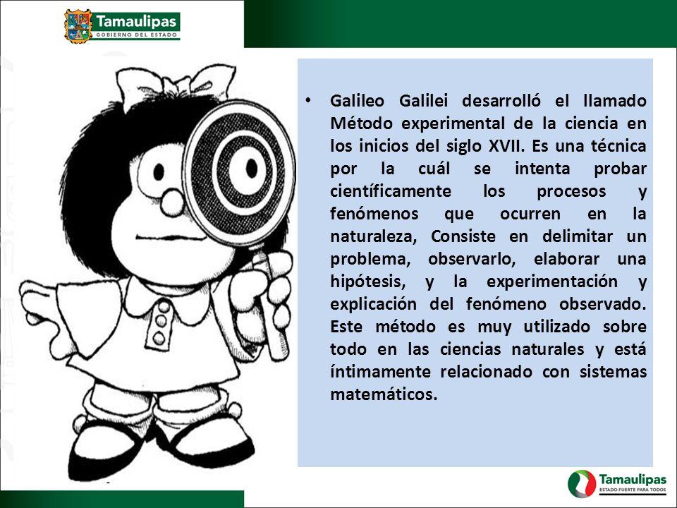Galileo Galilei desarrolló el llamado Método experimental de la ciencia en los inicios del siglo XVII.