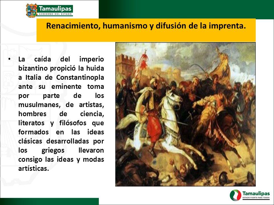 Renacimiento, humanismo y difusión de la imprenta.