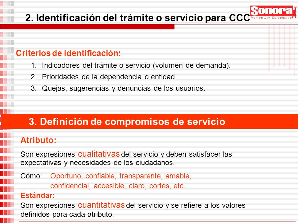 2. Identificación del trámite o servicio para CCC