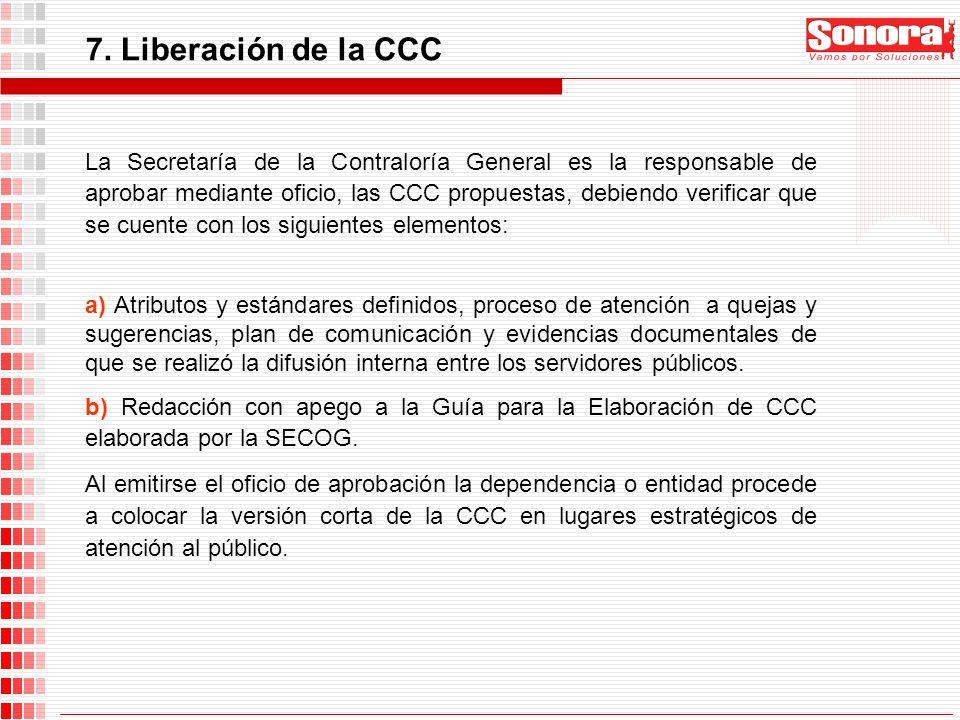 7. Liberación de la CCC
