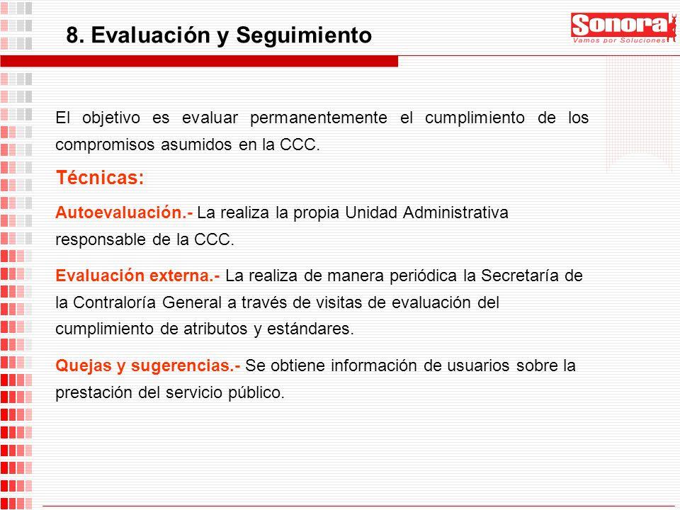 8. Evaluación y Seguimiento