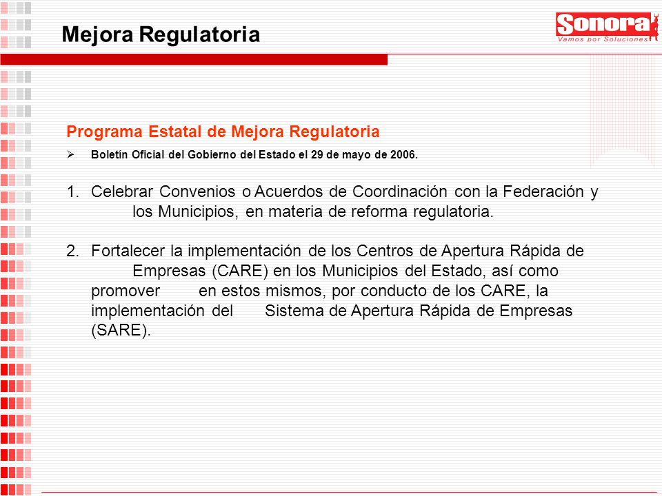 Mejora Regulatoria Programa Estatal de Mejora Regulatoria