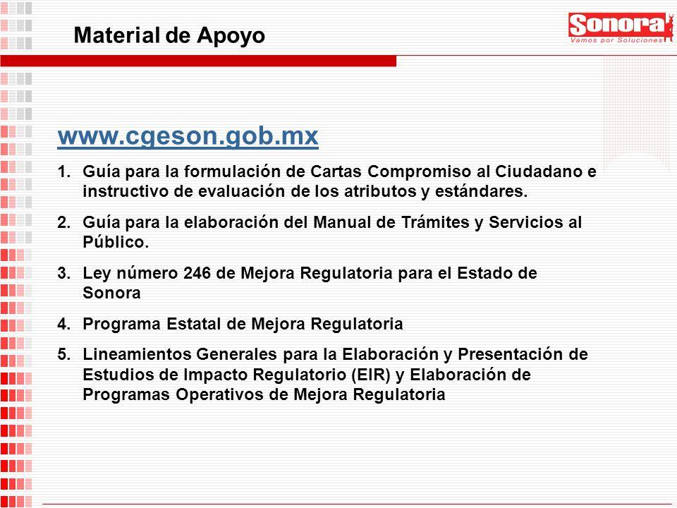 www.cgeson.gob.mx Material de Apoyo