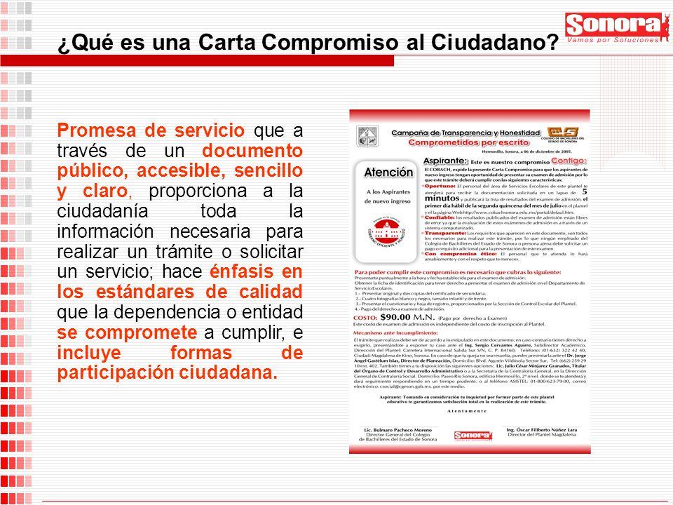 ¿Qué es una Carta Compromiso al Ciudadano