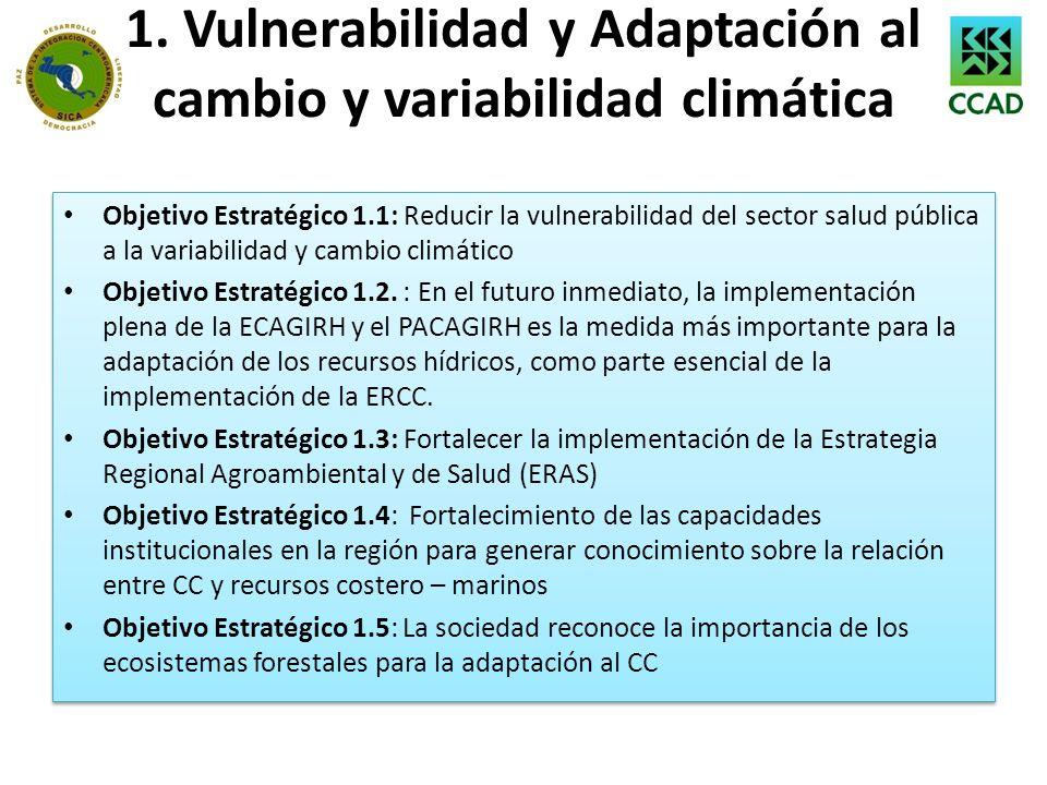 1. Vulnerabilidad y Adaptación al cambio y variabilidad climática