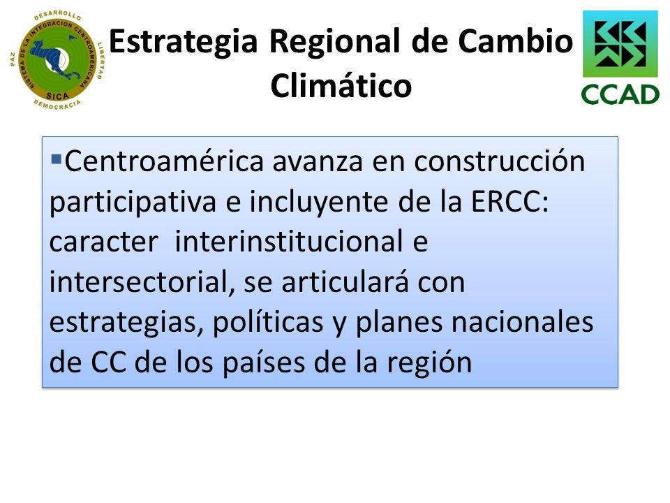 Estrategia Regional de Cambio Climático