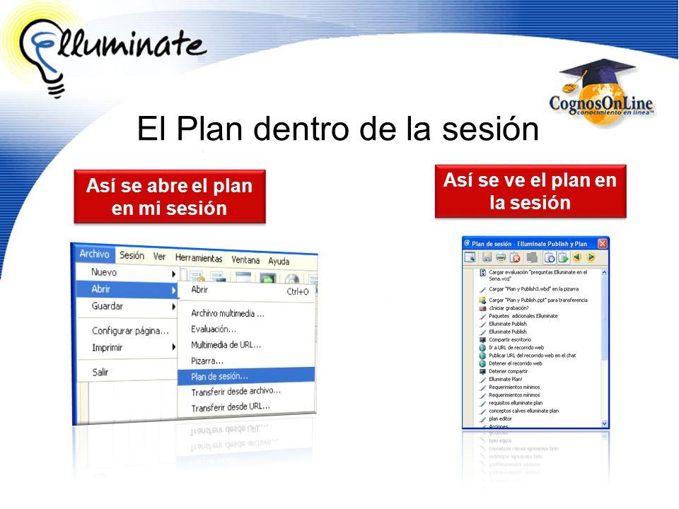 El Plan dentro de la sesión