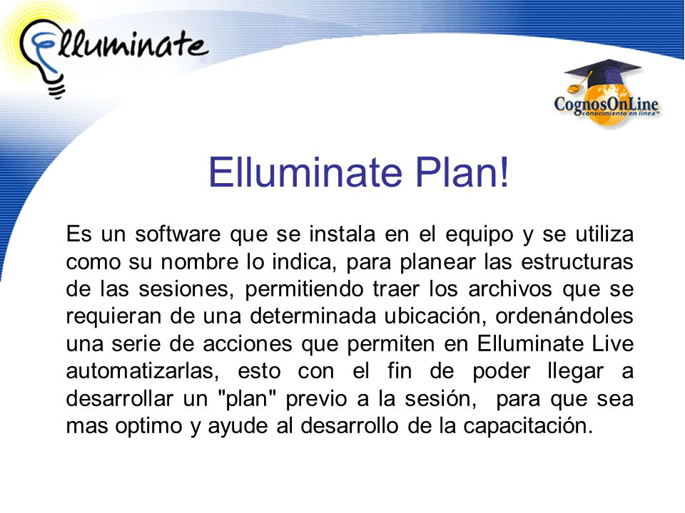 Elluminate Plan!